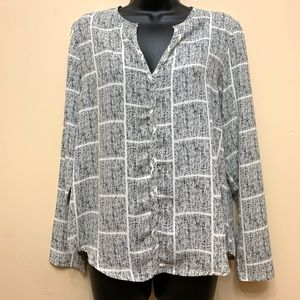 Anthropology Lumiere Print Blouse Small